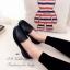 รองเท้าคัทชูเสริมส้น หนังนิ่ม ใส่สบายเท้า (สีดำ ) thumbnail 5