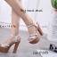 รองเท้าส้นสูงรัดส้นสีเงิน ทรงหรู สไตล์เกาหลี (สีเงิน ) thumbnail 4