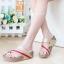 รองเท้าแตะเพื่อสุขภาพ สไตล์ลำลอง หูหนีบ เสริมพื้น (สีทอง ) thumbnail 2