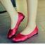 รองเท้าคัทชูส้นเตี้ย ผ้าลายเส้น สานหน้า (สีบานเย็น ) thumbnail 5