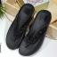 รองเท้าแตะเพื่อสุขภาพสีดำ แบบคีบ พื้น Soft Comfort (สีดำ ) thumbnail 1
