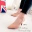 รองเท้าคัทชู ส้นสูง หัวแหลม หนังกลับ (สีครีม ) thumbnail 2