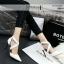 รองเท้าคัทชูส้นสูง หัวแหลม สายไขว้ (สีขาว ) thumbnail 4
