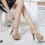 รองเท้าส้นสูงรัดส้นสีครีม หนังกำมะหยี่แท้ (สีครีม ) thumbnail 2