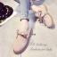 รองเท้าคัทชูหนังกลับ แนววินเทจ (สีกากี ) thumbnail 4