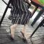 รองเท้าส้นแก้วรัดข้อ ดีไซด์โค้งเว้าสวยงาม (สีเงิน ) thumbnail 6