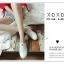 รองเท้าผ้าใบแฟชั่นสีขาว แบบสวม หน้ายางไขว้ ผ้าแคนวาส (สีขาว ) thumbnail 4