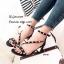 รองเท้าส้นตันรัดข้อสีดำ สายคาดเฉียง แต่งหมุดทอง (สีดำ ) thumbnail 3