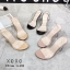 รองเท้าส้นสูงรัดส้นสีดำ พลาสติกในไม่บาดเท้า ส้นแก้ว (สีดำ ) thumbnail 2