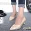 รองเท้าคัทชู หัวแหลม หนังนิ่ม แต่งกากเพชร (สีทอง ) thumbnail 5