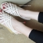 รองเท้าส้นเตารีดรัดส้น หนังสาน (สีครีม ) thumbnail 2