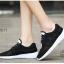 รองเท้าผ้าใบเสริมส้นสีดำ ผ้าตาข่าย น้ำหนักเบา (สีดำ ) thumbnail 2