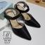 รองเท้าคัทชูรัดข้อสีดำ หัวแหลม เปิดส้น (สีดำ ) thumbnail 1
