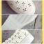 รองเท้าผ้าใบแฟชั่นสีขาว หนังพียูเจาะลายฉลุ ไม่มีเชือก (สีขาว ) thumbnail 9