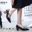 รองเท้าคัทชูส้นตันสีดำ หัวแหลม สไตล์ ZARA (สีดำ ) thumbnail 3