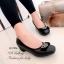 รองเท้าคัทชู หัวตัด หนังนิ่ม พื้นด้านในบุนวม (สีดำ ) thumbnail 2