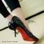 รองเท้าส้นสูงทรงหัวแหลม เว้าข้าง (สีดำ ) thumbnail 7