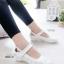 รองเท้าคัทชู พยาบาล น่ารัก สายรัดเมจิกเทป (สีขาว ) thumbnail 2