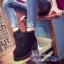 รองเท้าบูทผู้หญิง กันหนาว บุขน (สีม่วง ) thumbnail 3
