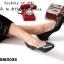 รองเท้าคัทชู สไตล์ZARA หน้าV ใส่ได้หลายโอกาส (สีดำ ) thumbnail 5