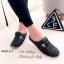 รองเท้าส้นแบน เปิดส้น หนังนิ่ม เพื่อสุขภาพ (สีดำ ) thumbnail 3