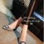 รองเท้าคัทชู ส้นสูง หัวแหลม แต่งหัวเข็มขัดฝังเพชร (สีเทา ) thumbnail 4