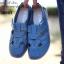 รองเท้าคัทชู สไตล์สุภาพ หนังนิ่ม (สีน้ำเงิน ) thumbnail 2