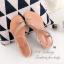 รองเท้าแตะ ส้นแบน รัดส้น แต่งอะไหล่เพชรฟรุ้งฟริ้ง (สีทอง) thumbnail 2