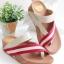 รองเท้าแตะเพื่อสุขภาพ สไตล์ลำลอง หูหนีบ เสริมพื้น (สีครีม ) thumbnail 1