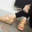 รองเท้าส้นเตารีดรัดส้น แนวญี่ปุ่น (สีแทน ) thumbnail 3