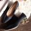 รองเท้าคัทชูหัวแหลม สไตล์ZARA หนังนิ่ม หน้าวี (สีดำ ) thumbnail 1