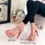 รองเท้าส้นสูง รัดข้อ สวยไฮโซ สไตล์YSL (สีชมพู ) thumbnail 3