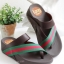 รองเท้าแตะเพื่อสุขภาพ สไตล์ลำลอง หูหนีบ เสริมพื้น (สีน้ำตาล ) thumbnail 1
