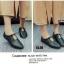 รองเท้าคัทชูส้นเตี้ยสีดำ ผูกเชือกเล็กๆ สไตล์ญี่ปุ่น (สีดำ ) thumbnail 2