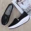 รองเท้าผ้าใบเสริมส้นสีดำ ผ้าทอติดลายกลิตเตอร์วิ้งๆ (สีดำ ) thumbnail 2