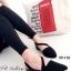 รองเท้าส้นเตี้ย รัดส้น หัวแหลม สายคาดเฉียง (สีดำ ) thumbnail 1