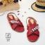รองเท้าแตะรัดส้นสีแดง สายคาดไขว้ ประดับเพชร (สีแดง ) thumbnail 1
