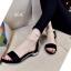 รองเท้าส้นเตี้ยรัดข้อสีดำ มีสายมุกรัดข้อปรับระดับ (สีดำ ) thumbnail 6