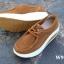 รองเท้าผ้าใบเสริมส้น เพื่อสุขภาพ แนววินเทจ (สีน้ำตาล ) thumbnail 6