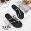 รองเท้าแตะแฟชั่นสีดำ แบบคีบ สไตล์แบรนด์ ZARA (สีดำ ) thumbnail 6