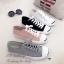 รองเท้าผ้าใบ แบบผูกเชือก สไตล์Jack-purcell (สีชมพู ) thumbnail 3