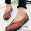 รองเท้าคัทชู แนววินเทจ หน้าไขว้ (สีแทน ) thumbnail 2
