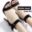 รองเท้าส้นสูง ปิดส้น เข็มขัดคล้องข้อเท้า (สีดำ )