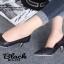 รองเท้าคัทชู หัวแหลม หนังนิ่ม แต่งกากเพชร (สีดำ ) thumbnail 3