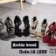 รองเท้าส้นสูง ปิดส้น รัดข้อเท้า แต่งซิปหลัง (สีแดง ) thumbnail 3