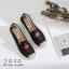 รองเท้าผ้าใบแฟชั่นสีดำ วัสดุผ้าฝ้าย สไตล์วินเทจ (สีดำ )