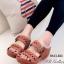 รองเท้าแตะสไตล์ลำลอง เปิดส้น พื้นสุขภาพ แนววินเทจ (สีน้ำตาล ) thumbnail 1