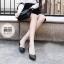 รองเท้าคัทชูส้นสูง ทรงหัวแหลม (สีดำ ) thumbnail 4