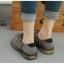 รองเท้าบูททรงเตี้ย แนววินเทจ (สีเทา ) thumbnail 2