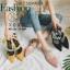 รองเท้าส้นเตี้ยหัวแหลมสีชมพู น้ำหนักเบา ประดับเพชร (สีชมพู ) thumbnail 3